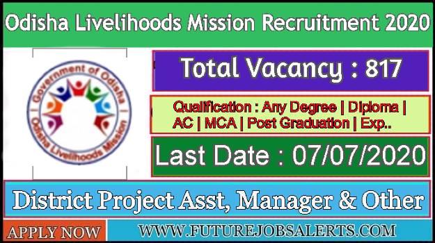 Latest Odisha livelihoods Mission Recruitment 2020-Apply ...
